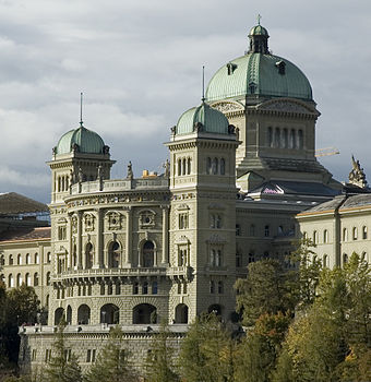 The Federal Palace, seat of the Federal Assembly and the Federal Council Bern 104.jpg