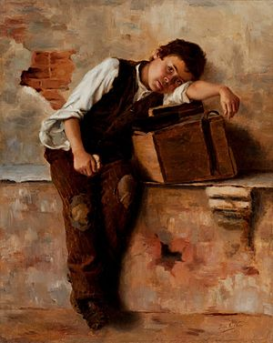 Saudade - Saudades de Nápoles (Missing Naples), 1895 by Bertha Worms.