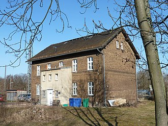 Ludwigsfelde station - Listed railway workers' residence north of the entrance building