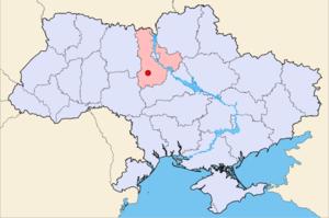 Біла Церква на мапі України
