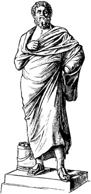 Sophocles, as depicted in the Nordisk familjebok.