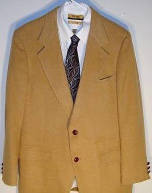 Camel hair - A camel hair blazer from the American fashion label Bill Blass, 2009.