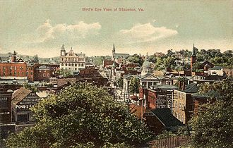 Staunton, Virginia - Bird's-eye view c. 1910