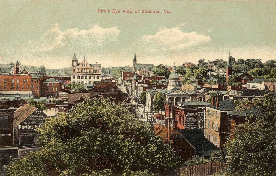 Bird's-eye View of Staunton, VA