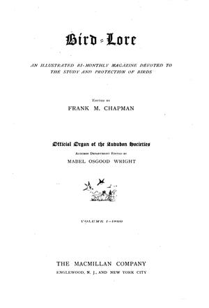 Audubon (magazine) - Title page of 1899 edition of Bird-Lore