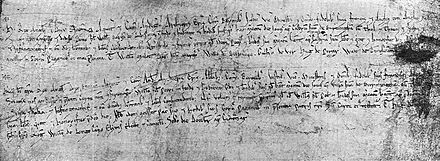 The charters of 1166 and 1189 that established Birmingham as a market town and seigneurial borough Birmingham Market Charters 1166 and 1189.jpg