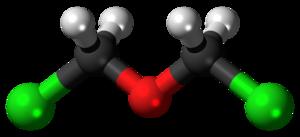 Bis(chloromethyl) ether - Image: Bis(chloromethyl) ether 3D balls