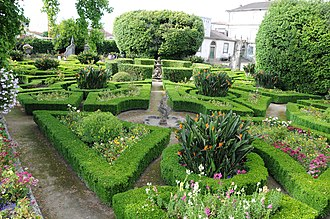 Biscainhos Museum - A view of the manicured gardens of the Biscainhos