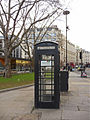 Black telephone box opposite St Paul's Cathedral, London EC2 - geograph.org.uk - 1092379.jpg