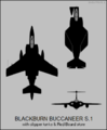Blackburn Buccaneer S.1 two-view silhouette.png