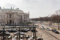 Blick von der Bel Etage des Café Landtmann auf das Burgtheater und den Universitätsring-0738.jpg