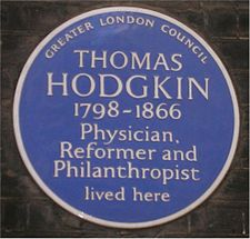 Blue plaque Thomas Hodgkin.jpg