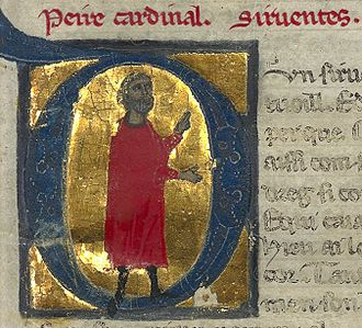 Peire Cardenal - Peire Cardenal from a 13th-century Lombard chansonnier.
