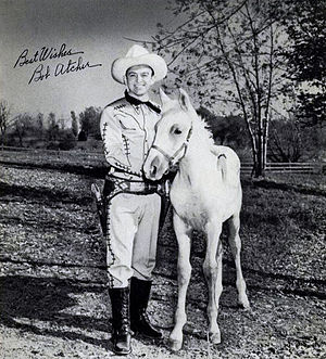"Bob Atcher - Atcher as the host of ""Meadow Gold Ranch"", a children's show on WENR-TV in the early 1950s."