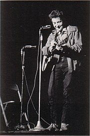 Bob Dylan performing at St. Lawrence University in November 1963