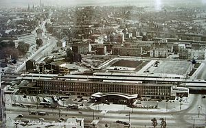 Bochum Hauptbahnhof - Aerial view of the new station in the late 1950s