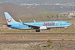 Boeing 737-8K5(w) 'OO-JAD' Jetairfly (24370156479).jpg