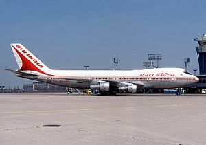 Air India Flight 855 - VT-EBD, nicknamed Emperor Ashoka, parked at Paris Orly Airport, two years before the accident.