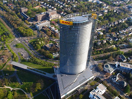 Being one of the biggest employers in the region, Deutsche Post DHL have their headquarters in Bonn.
