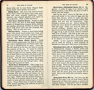 "Hollandaise sauce - Original recipes for variations of Hollandaise sauce from; ""The book of Sauces"" by C. Herman Senn (1915)"