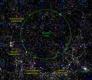 Boötes void - A map of the Boötes void