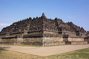 Central Java - The ninth-century Buddhist monument Borobudur built by the Sailendra.