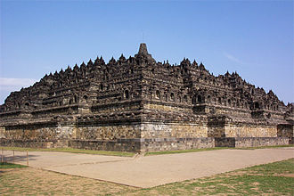 Central Java - The ninth-century Buddhist monument Borobudur built by the Sailendra.