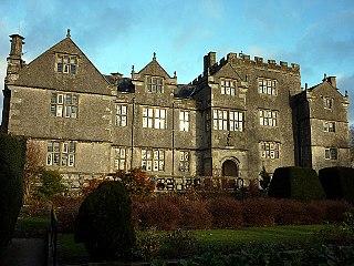 Borwick Hall manor house in Borwick, Lancashire, UK