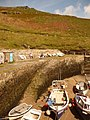 Boscastle, harbour wall and ramp - geograph.org.uk - 1466468.jpg