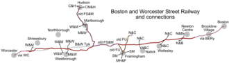Boston and Worcester Street Railway - Map