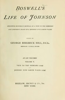 Boswell - Life of Johnson - Volume 5.djvu
