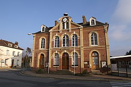 The town hall in Bourneville