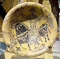 Bowl with a rider hunting with a falcon, Iran, Nishapur, 9th-10th century, slipped, painted, and glazed earthenware - Royal Ontario Museum - DSC04580.JPG