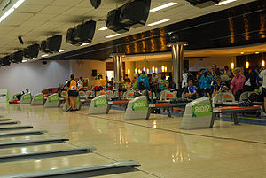 Pan American Games sports - The bowling competition held during the Rio de Janeiro 2007 Pan American Games. One of the traditional sports played at each Pan American Games since 1991.