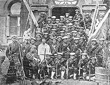 Group of Japanese marines.