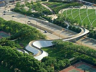 BP Pedestrian Bridge Footbridge located in Chicago