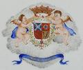 Brasão de armas de D. António de Araújo e Azevedo, 1.º Conde da Barca - Companhia das Índias, Reinado Jiaqing (1796-1820).png