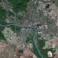 Bratislava seen from Spot Satellite