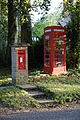 Brent Pelham phone and post box Hertfordshire England.jpg