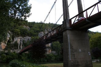 Bouziès - The bridge at Bouziès