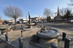 Drinking fountains in the United States - Image: Bridgeport CT Wheeler Fountain