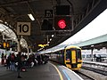Bristol Temple Meads - GWR 158961 protected by new signal B2127.JPG