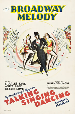 The Broadway Melody - Theatrical release poster