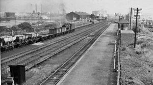Bromford Bridge railway station - Bromford Bridge station in 1962