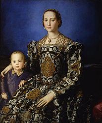 Bronzino: Portrait of Eleanor of Toledo and her son Giovanni de' Medici