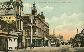 Fitzroy, Victoria - Looking south down Brunswick Street in 1906
