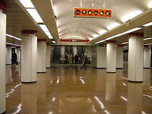 Kossuth Lajos tér (Budapest Metro) - Image: Budapest, Kossuth Lajos tér, metró 2