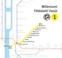 budapest földalatti térkép M1 es metróvonal – Wikipédia budapest földalatti térkép