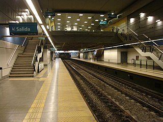 Puán (Buenos Aires Underground) metro station in Buenos Aires