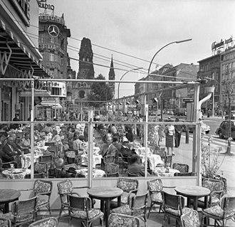 City West - Café Kranzler, 1955